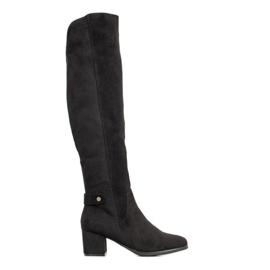 Goodin Teplé boty nad kolena černá