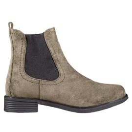 Ideal Shoes Casual boty Jodhpur zelená