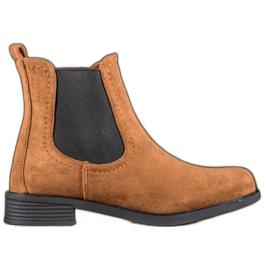 Ideal Shoes Casual boty Jodhpur hnědý