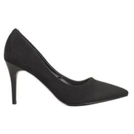 Kylie Klasické semišové podpatky černá