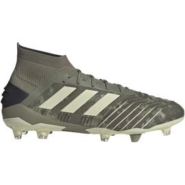 Fotbalová obuv Adidas Predator 19,1 Fg M EF8205 šedá / stříbrná šedá