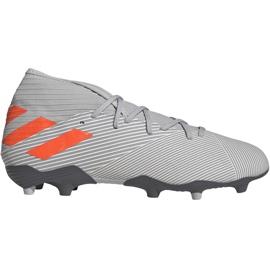 Fotbalová obuv Adidas Nemeziz 19,3 Fg M EF8287 šedá šedá / stříbrná