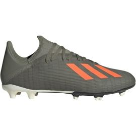 Fotbalová obuv Adidas X 19,3 Fg M EF8365 zelená šedá