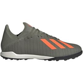 Fotbalová obuv Adidas X 19,3 Tf M EF8366 šedá zelená