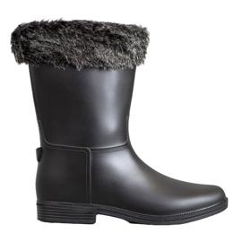 SHELOVET Wellingtons With Fur černá