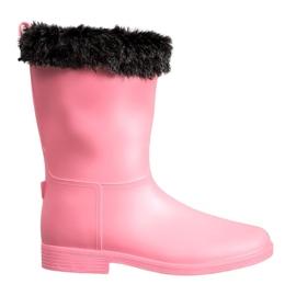 SHELOVET Wellingtons With Fur růžový