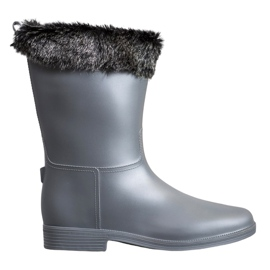 SHELOVET Wellingtons With Fur šedá