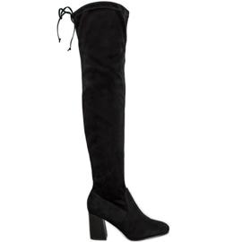 Filippo Elegantní boty přes koleno černá