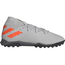 Fotbalová obuv Adidas Nemeziz 19,3 M Tf EF8291 šedá šedá / stříbrná