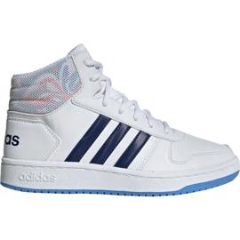 Obuv Adidas Hoops Mid 2.0 Jr EE8546 bílá