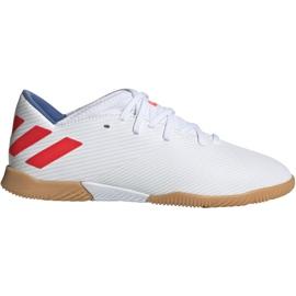 Adidas Nemeziz Messi 19.3 V Jr F99932 fotbalové boty bílá bílá, červená