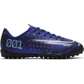 Fotbalová obuv Nike Mercurial Vapor 13 Club Mds Ic Jr CJ1174 401 námořnická modř válečné loďstvo