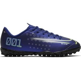 Fotbalová obuv Nike Mercurial Vapor 13 Academy Mds Tf M CJ1306 401 námořnická modř válečné loďstvo