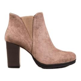 SHELOVET Kotníkové kotníkové boty hnědý
