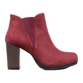 SHELOVET Kotníkové kotníkové boty červená