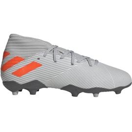 Fotbalová obuv Adidas Nemeziz 19,3 Fg Jr EF8302 oranžová, šedá / stříbrná šedá