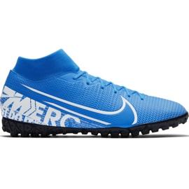 Fotbalová obuv Nike Mercurial Superfly 7 Academy M Tf AT7978 414 bílá, modrá modrý
