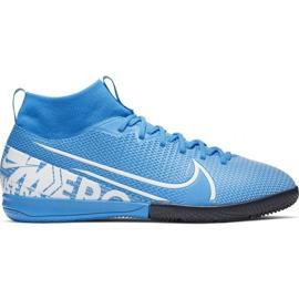 Fotbalová obuv Nike Mercurial Superfly 7 Academy Ic Jr AT8135 414 modrý bílá, modrá