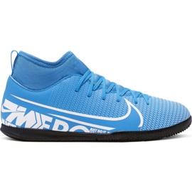 Fotbalová obuv Nike Mercurial Superfly 7 Club Ic Jr AT8153 414 bílá, modrá modrý