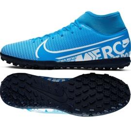 Fotbalová obuv Nike Mercurial Superfly 7 Club M Tf AT7980 414 černá černá, šedá / stříbrná