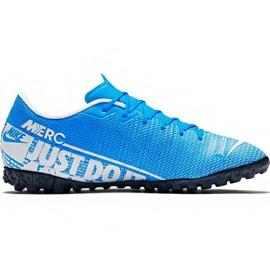 Fotbalová obuv Nike Mercurial Vapor 13 Academy M Tf AT7996 414 modrý bílá, modrá
