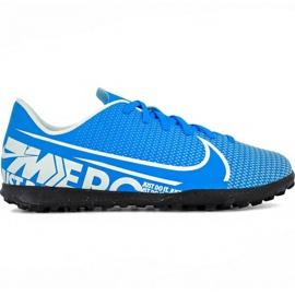 Fotbalová obuv Nike Mercurial Vapor 13 Club Tf Jr AT8177 414 modrý