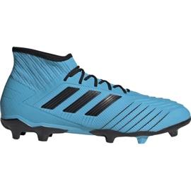 Fotbalová obuv Adidas Predator 19,2 Fg M F35604 modrý černá, modrá