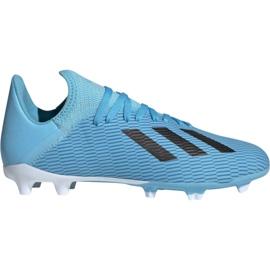 Kopačky Adidas X 19.3 Fg Jr F35366 modrý bílá, černá, modrá