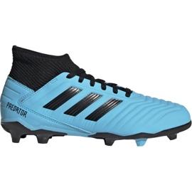 Fotbalová obuv Adidas Predator 19.3 Fg Jr G25796 modrý černá, modrá