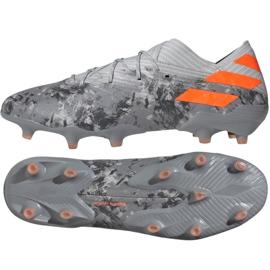 Fotbalová obuv Adidas Nemeziz 19,1 Fg M EF8281 šedá