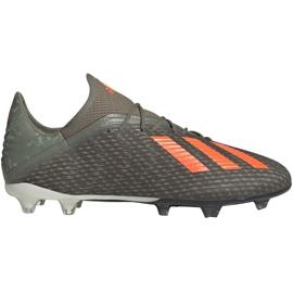 Fotbalová obuv Adidas X 19,2 Fg M EF8364 zelená šedá