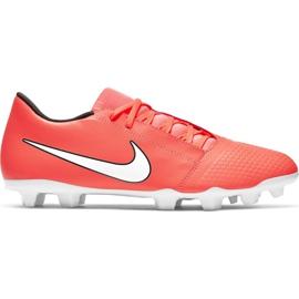 Fotbalová obuv Nike Phantom Venom Fg M AO0577 810 bílá, oranžová oranžový