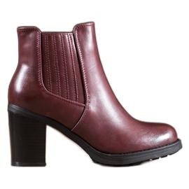 Comer Kožené boty červená