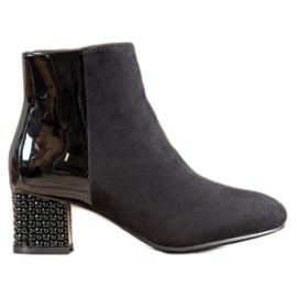 SHELOVET Módní kotníkové boty černá