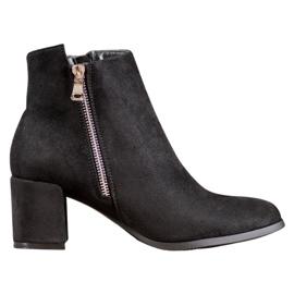 SHELOVET Klasické semišové boty černá