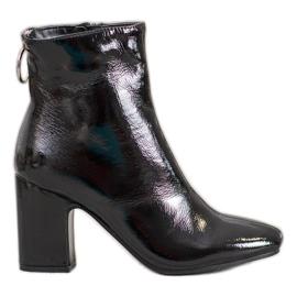 Seastar Lakované kotníkové boty černá