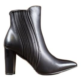 SHELOVET Sexy černé boty černá