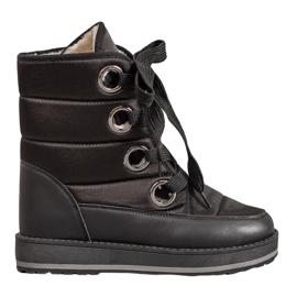Muto Snow Boots na platformě černá