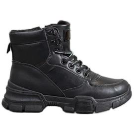 SHELOVET Kotníkové boty na módní platformě černá