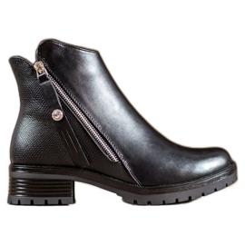 Super Me Černé kotníkové boty černá