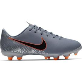 Fotbalová obuv Nike Mercurial Vapor 12 Academy Mg Jr AH7347 408 oranžová, šedá / stříbrná šedá