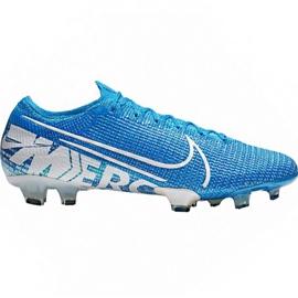 Fotbalová obuv Nike Mercurial Vapor 13 Elite Fg M AQ4176 414 bílá, modrá modrý