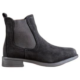Ideal Shoes Casual boty Jodhpur černá