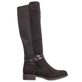 Super Me Elegantní boty s přezkou černá