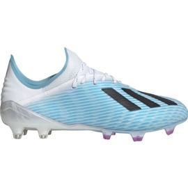Fotbalová obuv Adidas X 19,1 M Fg F35316 bílá, modrá modrý