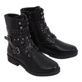 Vojenské černé boty 1952-11 Černá