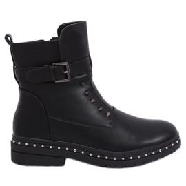 Vojenské černé izolované boty 1946-9 Černá