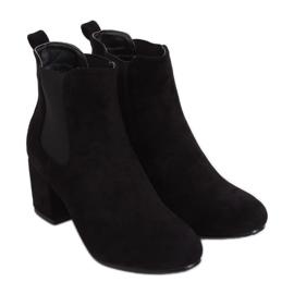 Černé boty Jodhpur černé 2208-132 Černé černá