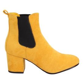 Žluté boty Jodhpur žluté 2208-132 žluté žlutý