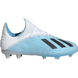 Fotbalová obuv Adidas X 19,1 Fg Jr F35684 bílá, modrá modrý